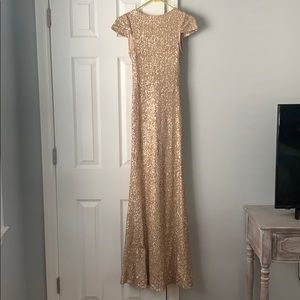 Sorella Vita Rose Gold Sequin Gown